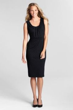 Women's Sleeveless Ponté Sheath Dress from Lands' End