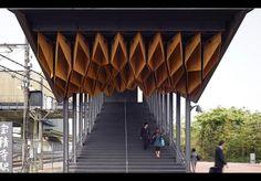 Canopy at Hoshakuji Station by Kengo Kuma and Associates, Takanezawa-Machi, Toghigi, Japan