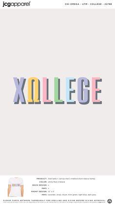Chi Omega College Shirt   Sorority College   Greek College #chiomega #chio #xo #college #colorful #letters