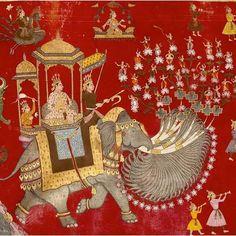 17th Century Jain scroll, Nagpur, India