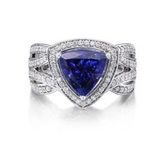 18K White Gold Tanzanite/Diamond Ring