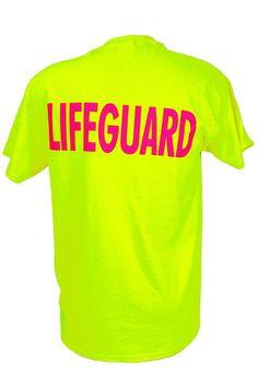 "9b6e5f226771 Lifeguard logo printed on front. ""LIFEGUARD"" printed on back."