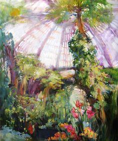 """Saatchi Art Artist Viktoria Kutukova; Painting, """"green"""" #art"""