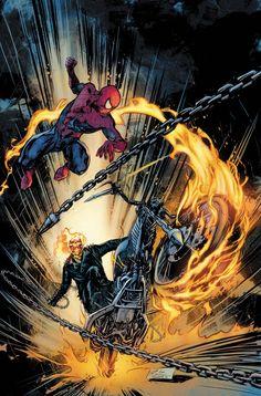 Spider-Man & Ghost Rider by Roberto de la Torre