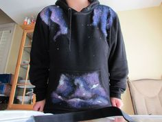 "DIY ""Galaxy"" Sweatshirts! Or anything you want to ""SPACE-ify""! by Julianne fights Dragons!"