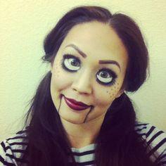 Ventriloquist dummy #HalloweenMakeup Halloween Looks, Halloween Kids, Halloween Face Makeup, Halloween Costumes, Rag Doll Makeup, Ventriloquist Dummy, Special Effects Makeup, Holiday Makeup, Diy Party