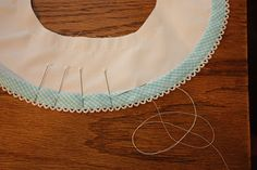 Creations By Michie` Blog  picot-edge folded bias collar