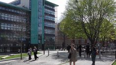 De Montfort University, Leicester.    14.04.15.   Here with my Son & Grandson for University Open Day.
