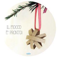 Quandofuoripiove: Gli addobbi di Natale da fare coi bambini: il fiocco di Natale tridimensionale