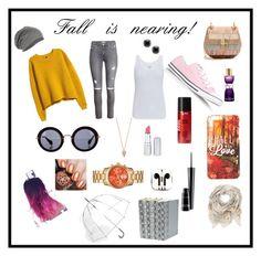 """Fall"" by sheadailey on Polyvore featuring H&M, Majestic, Converse, Chloé, Miu Miu, Yves Saint Laurent, Sexy Hair, Pamela Love, HoneyBee Gardens and MAC Cosmetics"