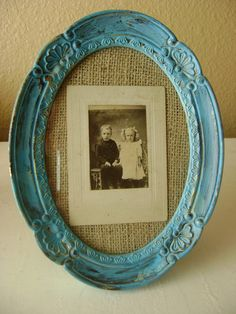 Idea for selling backless frames at flea market...old frame staple burlap/fabric and get old photos.