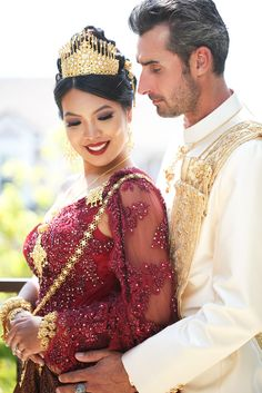 Great colors on both - appropriate for morning Laos Wedding, Cambodian Wedding, Khmer Wedding, Wedding List, Wedding Bride, Dream Wedding, Indian Wedding Video, Wedding Videos, Cambodian People