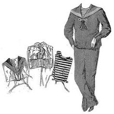 1901 Sailor Costume for Boy 9-10 Years Pattern,$10.50