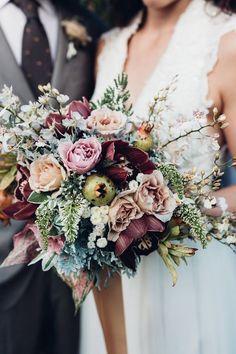 Rustic winter wedding bouquet