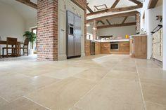 Durable Limestone Floors In Kitchen