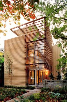 Open siding detail - Contemporary Madrona Residence by Vandeventer + Carlander Architects / TechNews24h.com