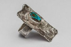 Geometrical silver ring with turquoise. Silver Jewellery, Jewelery, Silver Rings, Turquoise, Handmade, Design, Jewlery, Jewels, Hand Made