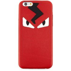 Fendi Monster Eyes iPhone 6 Cover (27.505 RUB) ❤ liked on Polyvore featuring men's fashion, men's accessories, men's tech accessories, red and fendi