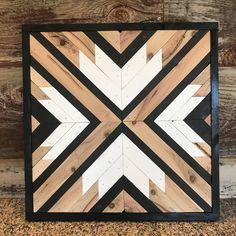Rustic Geometric Modern Wood Wall Art Hanging by KenobbieWoodworks on Etsy https://www.etsy.com/listing/579457595/rustic-geometric-modern-wood-wall-art