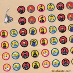 FREE Printable LEGO Movie Hersheys Kisses Stickers....HOLD UP, SOMEONE OUT THERE MAKES KISS STICKERS!?!?!?!
