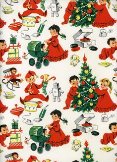 Vintage Wrapping Paper - Nonna's Baby • The CUTEST baby clothes and accessories you will EVER find anywhere in the UK! • Visit our online shop: www.nonnasbaby.co.uk