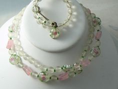 Vintage Miriam Haskell Wedding Cake Necklace And Bracelet Set – Vintage Lane Jewelry