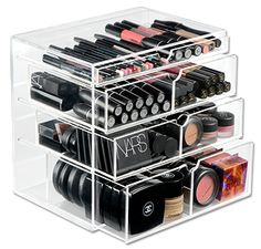 A great way too store all your make-up, without having to rummage around trying to find what you need each day (it's completely see through after all!)