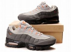 lowest price 15109 ef575 Nike Air Max 95 Mens White Grey Black Orange