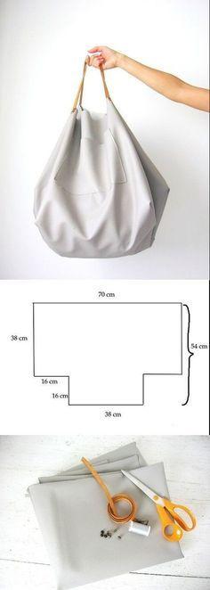 Sewing bags tutorial handbags tuto sac 55 ideas for 2019 Diy Bags Step By Step, Diy Bag Handles, Diy Bags Patterns, Purse Patterns, Sewing Patterns, Diy Bags No Sew, Diy Pochette, Diy Bags Purses, Diy Handbag