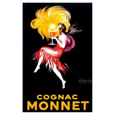 Art.com -Cognac Monnet, Yellow