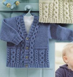 Instant+PDF+550+Baby/+Toddler/+Boys/+Girls+by+HeirloomKnitPatterns,+$1.99