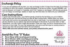 Paparazzi Accessories Exchange Policy and Care Instructions. Paparazzi Display, Paparazzi Jewelry Displays, Paparazzi Accessories, Papa Razzi, Paparazzi Consultant, Princess Jewelry, Jewellery Display, Custom Jewelry, Jewelry Box