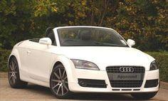 White convertible Audi