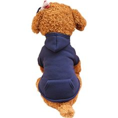 Minisoya Pet Clothes Fashion Dog Hoodie Sweatshirt Pockets T-Shirt Warm Hooded Jacket Coat Lovely Costume >>> Check out this great product. (This is an affiliate link) #DogApparelAccessories