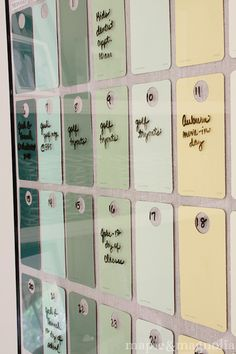 Paint-chip Dry Erase Calendar by Maple & Magnolia