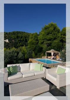 Luxurious Beachfront Villa on the untouched island of Alonissos, Greece. This 3 bedroom villa is right by the beach and offers total privacy.