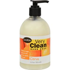 Shikai Very Clean Liquid Hand Soap Citrus 12 oz >> Remarkable product available now. : Natural Beauty Care