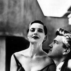 RARE HELMUT NEWTON ORIGINAL PHOTO Isabella Rossellini & David Lynch - USA…