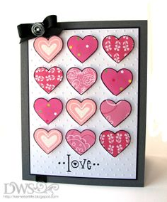 DeNami Patterned Love Hearts card by @Dana Curtis Seymour