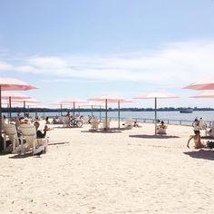 pink umbrellas - sugar beach, Toronto Pink Umbrella, The 4, Umbrellas, Toronto, Ivory, Sugar, Let It Be, Beach, Places