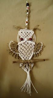 creattivamente: Tutorial gufo macramè - seconda parte this is part two of the macrame owl.