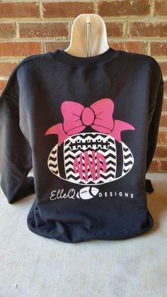 Monogrammed Football Sweatshirt. Football. by ElleQDesigns on Etsy