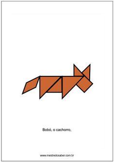 animais de tangram Tangram, Geometry Activities, Lesson Planning, Math Notebooks, Happy Children, Learning, Art