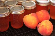 photo tutorial of canning homemade peach jelly