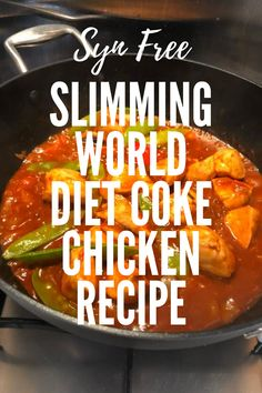 This Syn free diet coke chicken recipe is ideal if you're following the Slimming World plan. You can use Pepsi Max if you prefer! It has a gorgeous barbecue chicken taste and can be served with rice, mashed potatoes, green veggies, or a side salad. Diet Coke Chicken Slimming World, Slimming World Diet, Chicken Lunch Recipes, Dinner Recipes, Sandwich Fillers, Balsamic Vinegar Chicken, Speed Foods, Chicken Life, Green Veggies