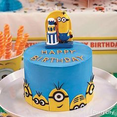 Make their birthday party one-in-a-minion with this Mischievous Minions cake! Click to steal all the decorating tips from our how-to!