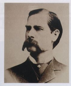Wyatt Earp famous mustache ~ for the mustache match game