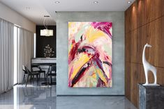 Items similar to Large Modern Wall Art Painting,Large Abstract wall art,painting colorful,xl abstract painting,canvas wall art on Etsy Large Abstract Wall Art, Large Wall Art, Abstract Canvas, Canvas Wall Art, Painting Canvas, Large Art, Large Painting, Painting Abstract, Acrylic Canvas