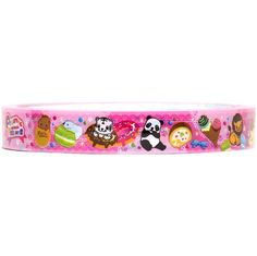 cute pink Deco tape sticky tape with animals & sweets
