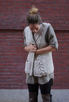 Emily's Vest by Cecily Glowik MacDonald / in Quince & Co. Puffin